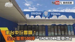 衝台中玩雪囉!全台獨家500坪「SNOWTOWN雪樂地」