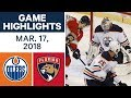 NHL Game Highlights | Oilers vs. Panthers - Mar. 17, 2018