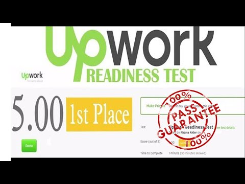 2019 Upwork Readiness Test Answers For New Upwork Freelancers 5 Out Of 5 Youtube