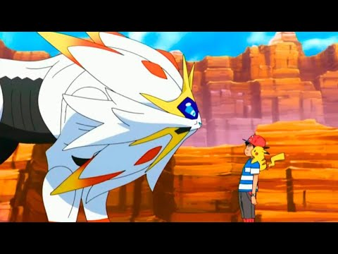 Nebby Evolves Into Solgaleo  [Eng Dub] Pokemon Sun And Moon Episode 52