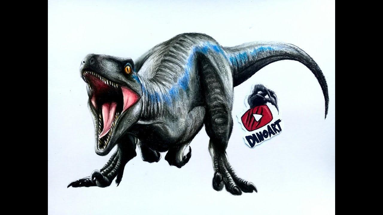 Dibujando A Blue En Jurassic World Fallen Kingdom Youtube
