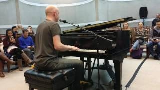 Isaac Slade, from The Fray, singing How to save a life at HBS