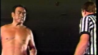 At the hands of Hiro Matsuda, NWA Worldwide 10/17/87.