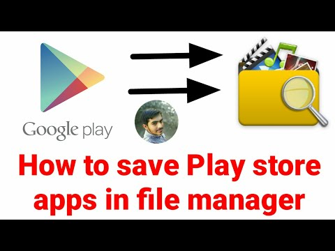How to Store Play Store App/Games in File manager|Save Playstore apps in file manager |App Review#1