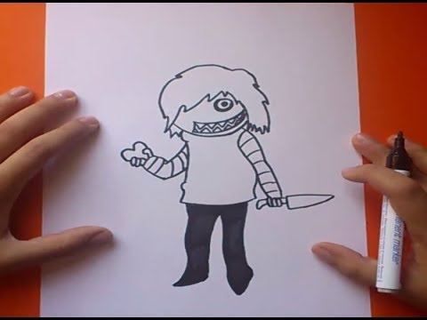 Como dibujar a Jeff the killer paso a paso  How to draw Jeff the