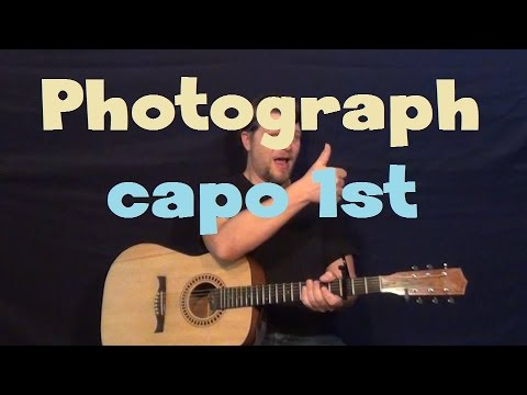 Photograph (Nickelback) Easy Strum Guitar Lesson How to Play Tutorial Capo 1st Fret