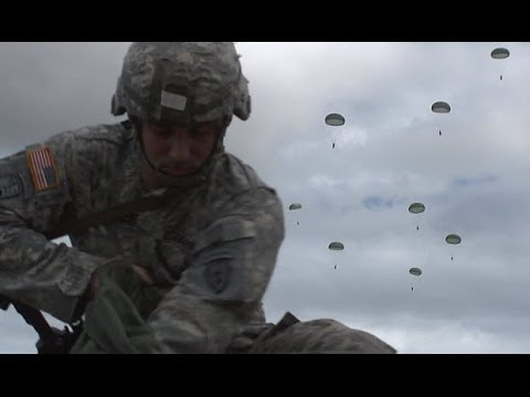 Operation Spartan Reach - 25th Infantry Division Jumps Into Malamute Drop Zone, JBER Alaska!