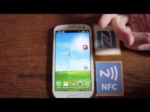 Samsung Galaxy S3 NFC Near Field Communication Demonstration