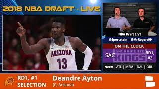 Phoenix Suns Select Deandre Ayton From Arizona With Pick #1 In 1st Round Of 2018 NBA Draft