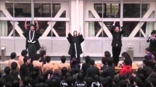 安積高校124期應援團卒業大進撃.2011.3.1