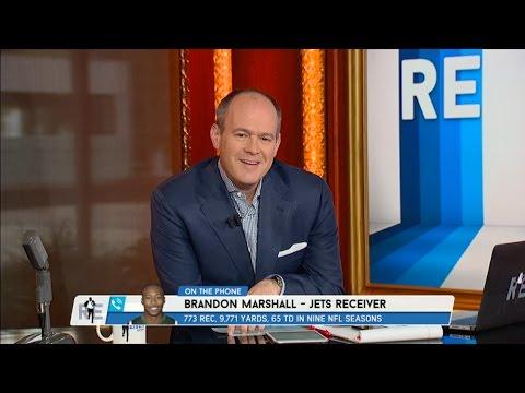 Jets WR Brandon Marshall on Geno Smith & Jets QB Sigtuation - 8/24/15