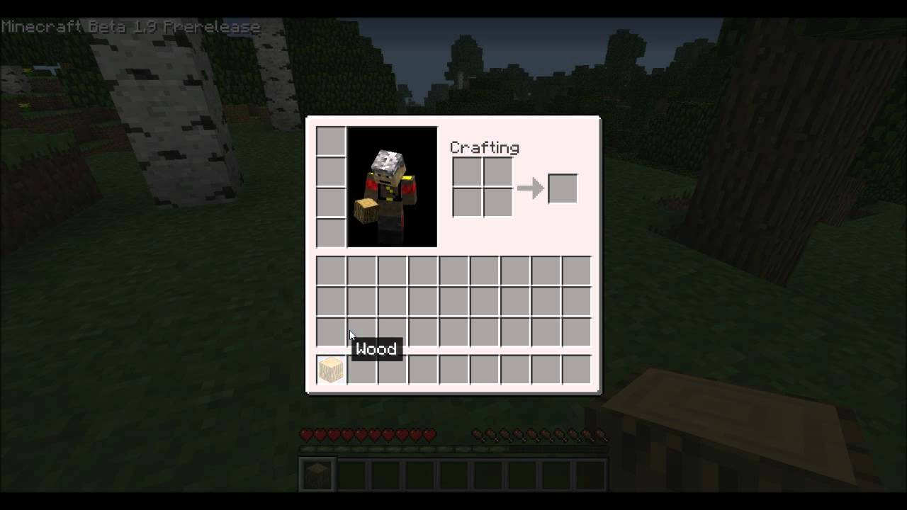 Minecraft how to make a crafting table youtube for How to draw a crafting table