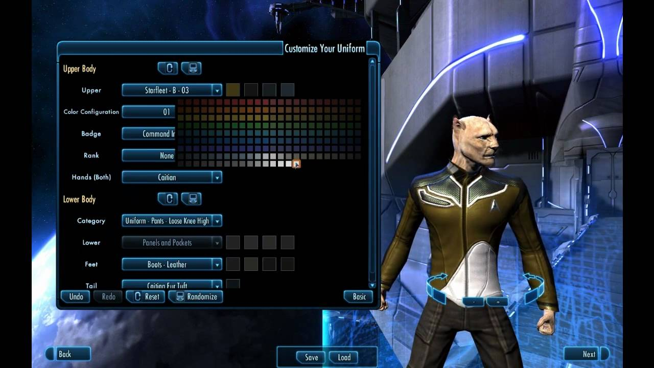 Star trek online playthrough character creator youtube for Home creator online