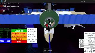 Roblox Rocket tester :View my space station and Put US flag on titan