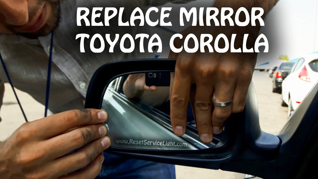 hight resolution of replace wing heated mirror glass toyota corolla 2000 2015