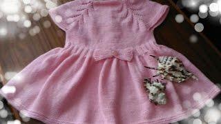 Вязание на спицах  Детское платье