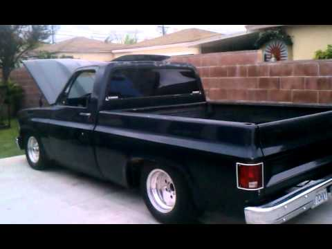 78 Chevy Truck >> Chevy C10 cowl hood, small block, gear drive - YouTube