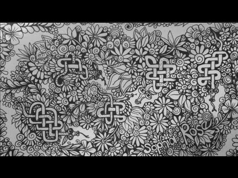 ASMR: Drawing Dragons (ASMR, Whispering, drawing sounds, Celtic Knotwork, doodles, Zentangle)
