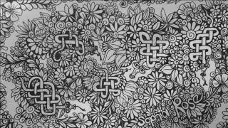 ASMR: Drawing Dragons (ASMR, Whispering, drawing sounds, Celtic Knotwork, doodles, Zentangle)