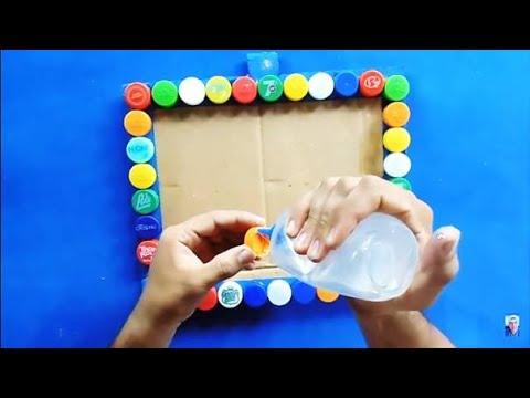 Manualidades con reciclaje recicla tapas de botellas pet - Manualidades con cuadros ...