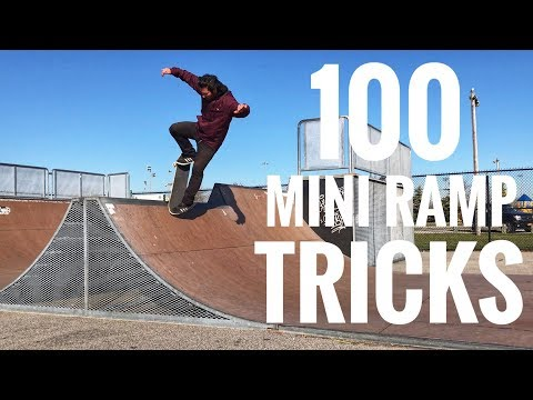 100 Mini Ramp Skateboard Tricks In Under An Hour! (Full Session)