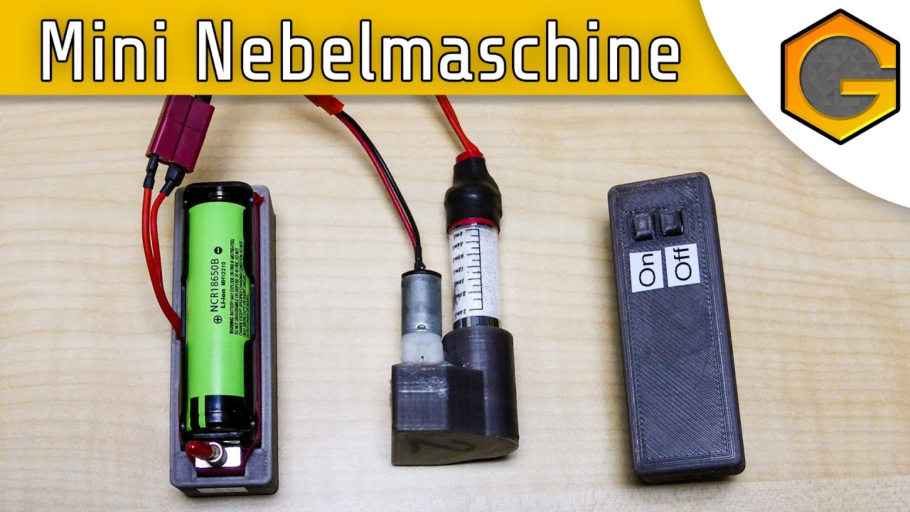 mini nebelmaschine [german/deutsch] - youtube