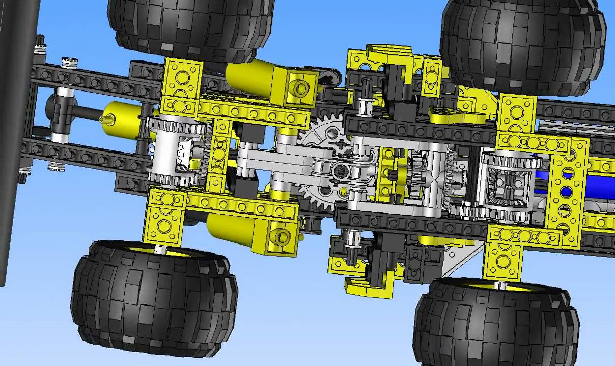 Lego Technic 8464 Front-End Truck Kinematics simulation - TopSolid'Design