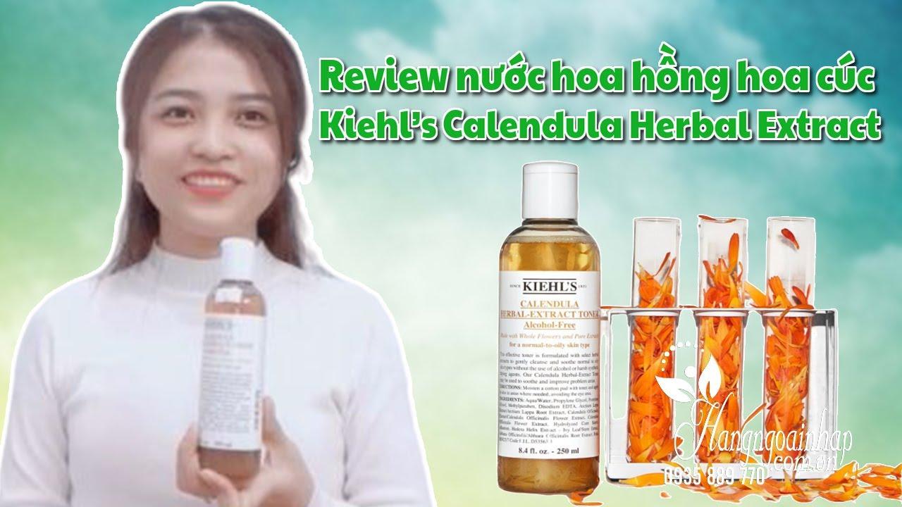 Review nước hoa hồng hoa cúc Kiehl's Calendula Herbal Extract