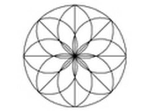autocad 2d tutorial a simple decorative motif mandala youtube. Black Bedroom Furniture Sets. Home Design Ideas