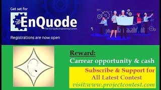 TCS EnQuode (2019) I Contest Based Hiring I Coding contest