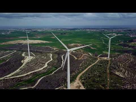 Beautiful Wind Farms at Cyprus