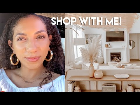 Shop With Me Neutral Home Decor | LOTS OF RH DUPES! | HomeGoods, AtHome, Target, LivingSpaces & more