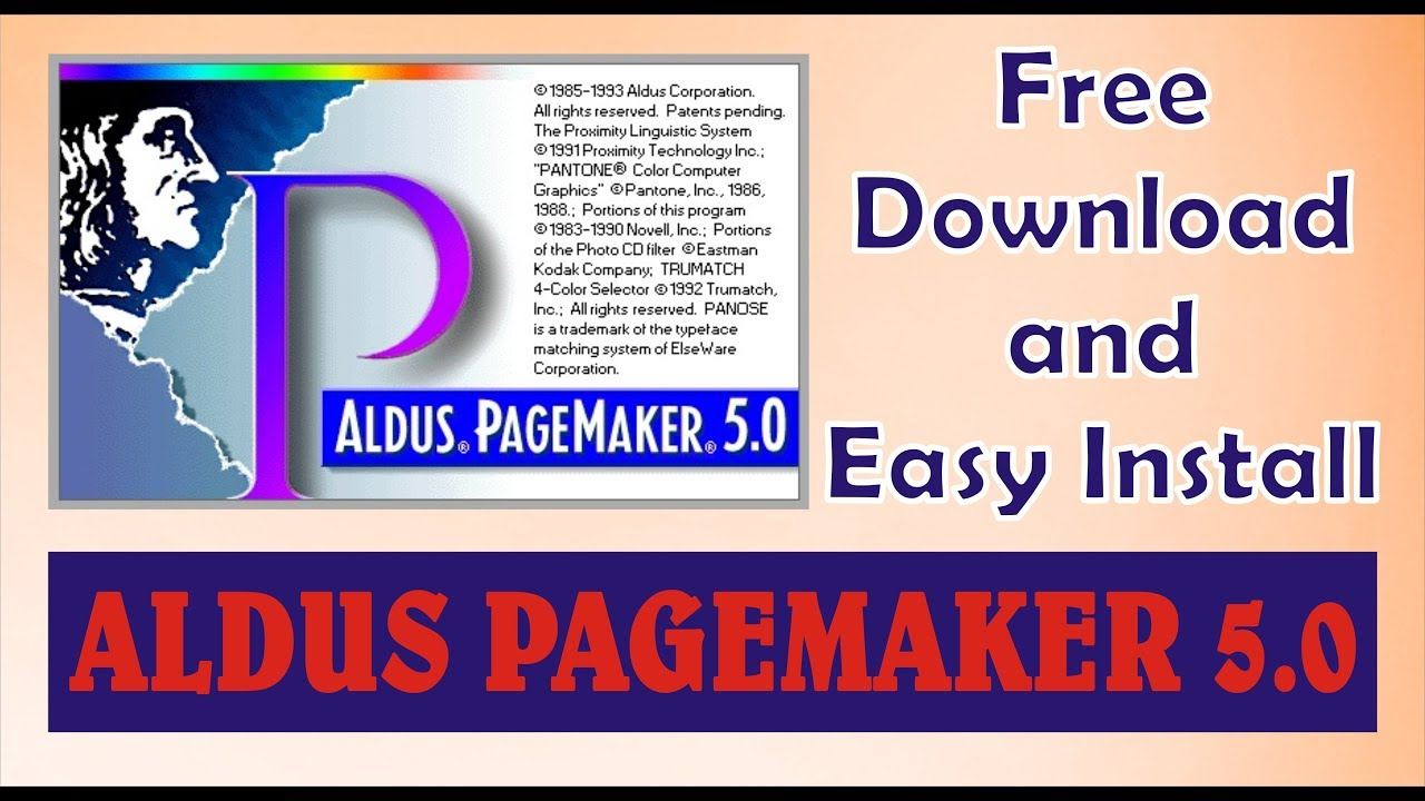 aldus pagemaker 5.0 software free download for windows 7