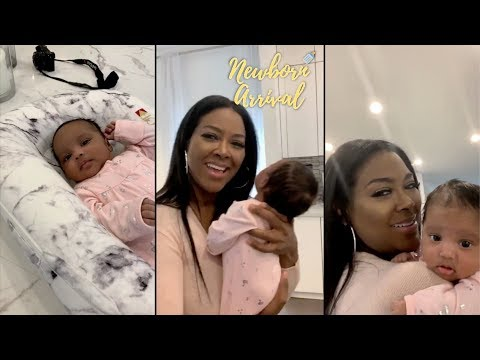 Kenya Moore Introduces Daughter Brooklyn To IG Live! 👶🏾