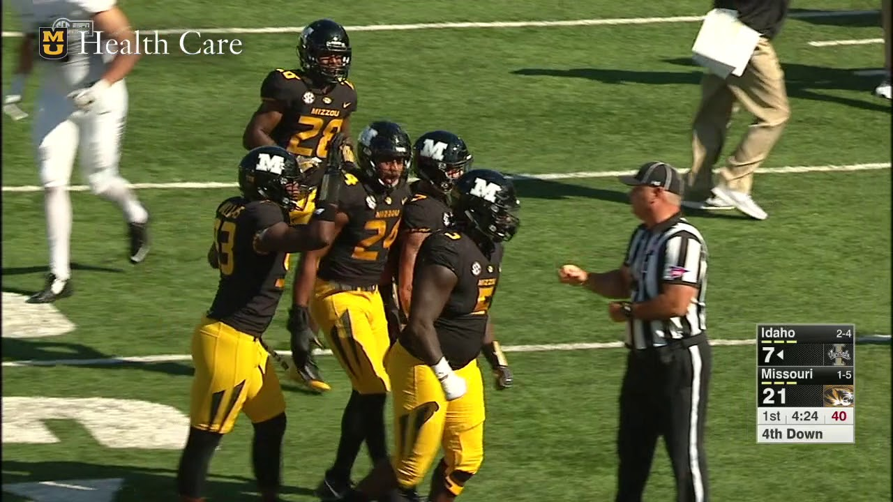 Highlights Mizzou Football Dominates Homcoming Game Against Idaho 68 21 Youtube