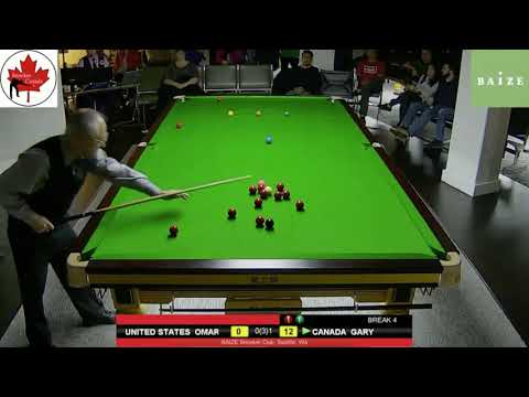 CANADA VS USA- FINALS: FRAME 2, SNOOKER EXHIBITION IN SEATTLE, WA