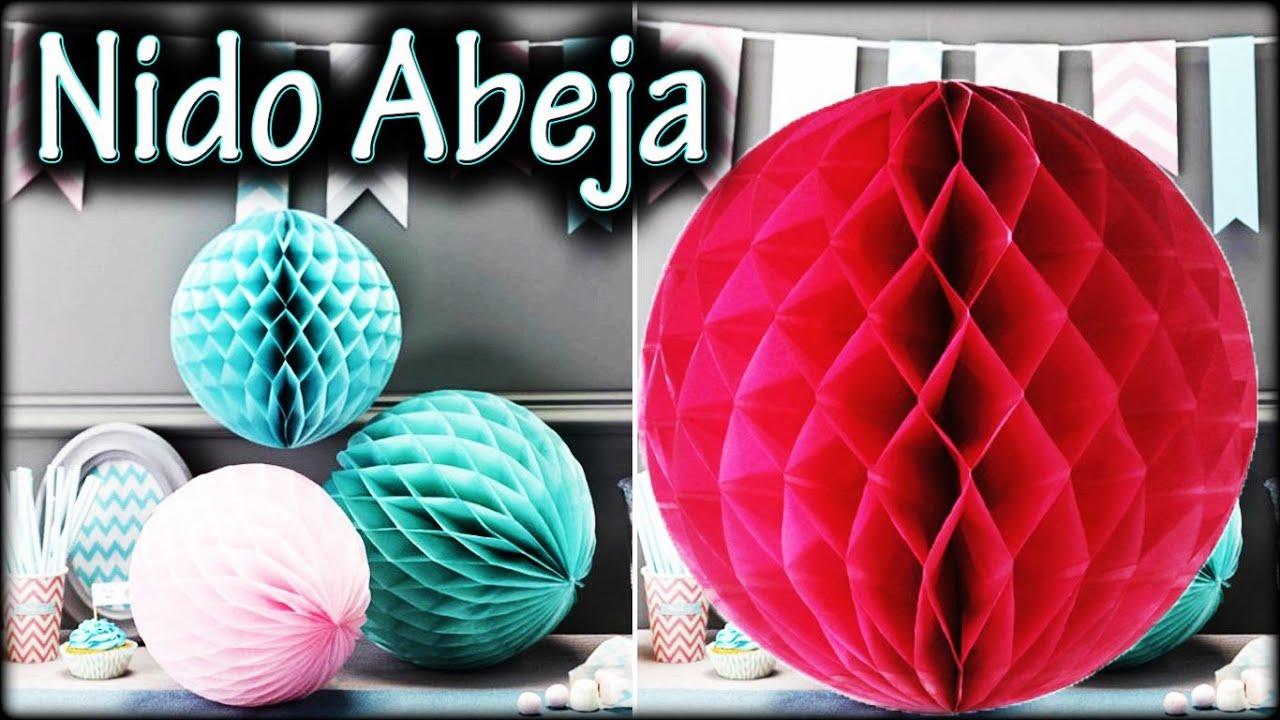 Bola esfera nido de abeja decoraci n para fiesta youtube - Papel decorativo infantil ...
