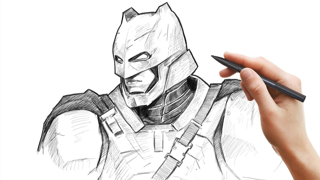 Drawing Armored BATMAN From Batman V Superman In
