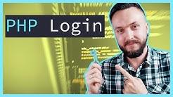 PHP LOGIN SCRIPT TUTORIAL! dazu eingeloggt bleiben Funktion mit password_verify Beispiel