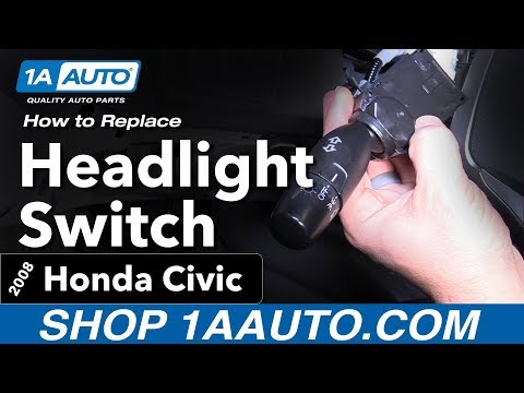 How to Replace Install Headlight Switch 2008 Honda Civic