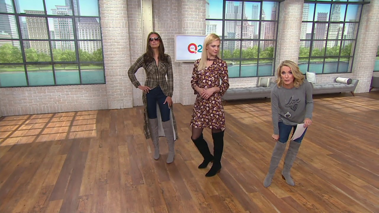 b6bda0fb9ad Sole Society Suede Over the Knee Boots - Melbourne on QVC - YouTube