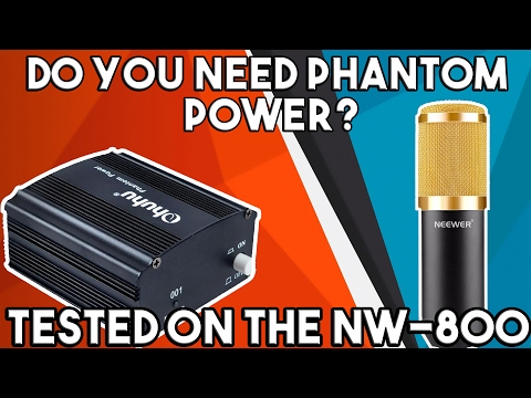 Do You Need Phantom Power? NW-800 Tested