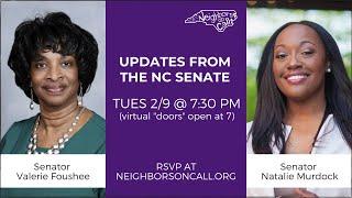 Neighbors on Call talks with Senators Valerie Foushee and Natalie Murdock