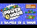 SUPER MARIO POWER HOUR   Attempting To Beat 3 Mario Games In 1 Hour!!