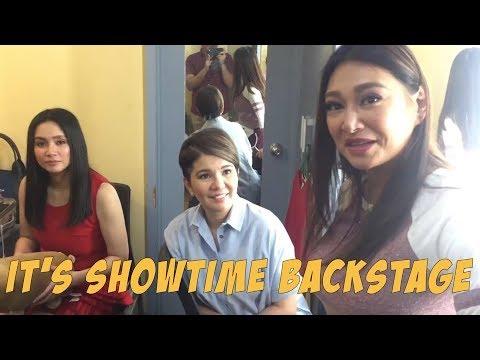 Kulitan BACKSTAGE with ITS SHOWTIME hosts ANG SAYA NAMIN!  Rufa Mae Quinto