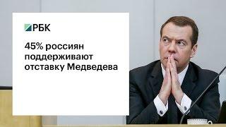 45% россиян поддерживают отставку Медведева