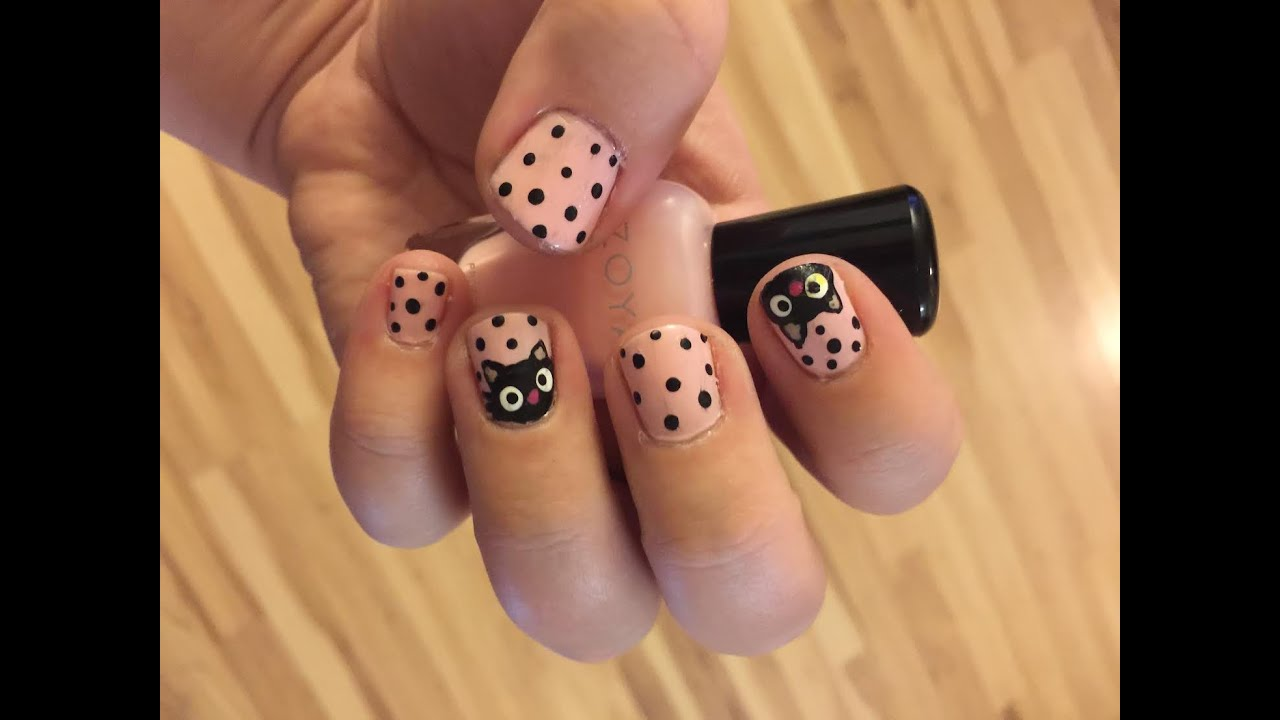 Chococat Nail Art Tutorial | Sanrio Kitty Cat Manicure DIY - YouTube