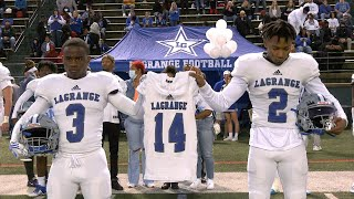 One Town, One Family; LaGrange and Troup Unite to Remember No. 14 Trae Cole