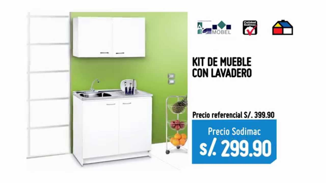 Kit de Mueble con Lavadero S29990  YouTube