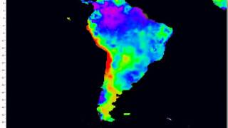 Vizualization of CPC Soil Moisture model (South America)